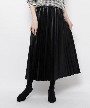 モードサテンプリーツスカート