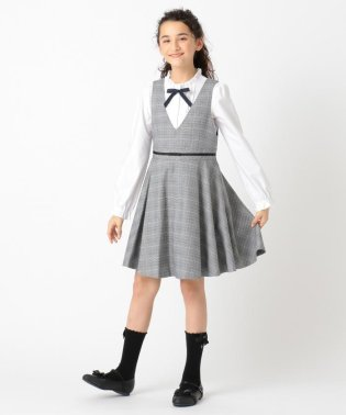 【150-170cm】チェックジャンパースカート