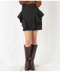 フロントフリルデザイン台形スカート