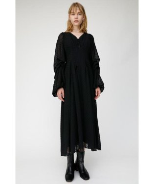 SHEER DOT VOLUME SLEEVE ドレス