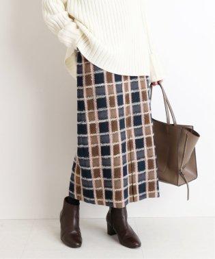 【 CLASSY. Closet×SLOBE 】チェックタイトミモレスカート◆