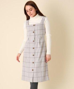 【WEB限定プライス/手洗い可】チェックジャンパースカート