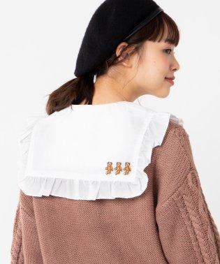 WEGO/刺繍ビッグフリル付け襟