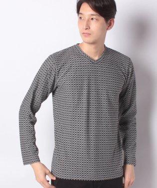 :ジャガードチェックTシャツ