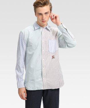 ミックスストライプリラックスシャツ