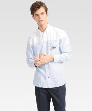 カラーブロックシャツ