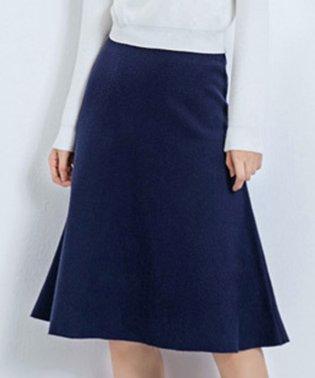 Aラインフレアニットスカート