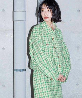 【Alley】千鳥ショートジャケット羽織り