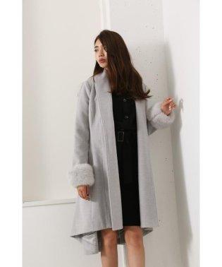 Back Long Faux Fur Gown CT