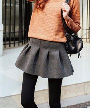厚手のスカート付のレギンスだから可愛いのに暖かい