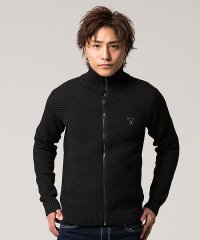 VIOLA【ヴィオラ】5Gジャガード編みフルジップ長袖ニットジャケット