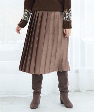 ビスコース風サテンプリーツスカート