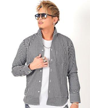 チェックイタリアンカラーシャツ/シャツ メンズ イタリアンカラー 長袖シャツ チェック柄 BITTER ビター系