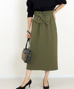 エステルツイルウエストデザインタイトスカート