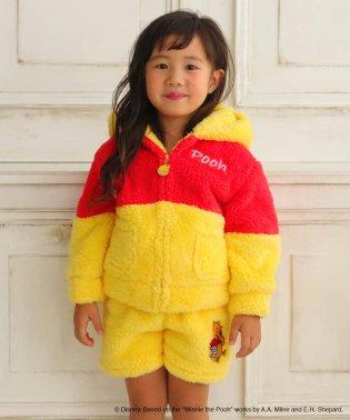 子供用 KIDS くまのプーさん 上下セット キャラクター セット(冬 もこもこ パーカー 長袖 プーさん 暖かい かわいい 90cm 110cm 130cm)
