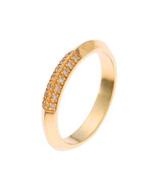 ◆ダイヤモンド しのぎ ピンキーリング