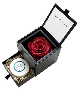 エルメス HERMES ソープ プリザーブドフラワー ダイヤモンドローズ 薔薇 小物入れ
