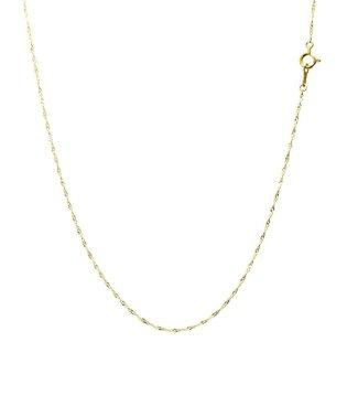 18金ネックレス チェーン K18 ダブル スクリュー ネックレス 幅 0.92mm 長さ 40cm