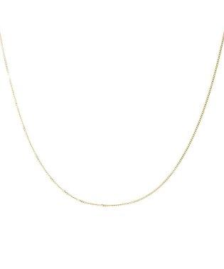 18金ネックレス チェーン K18 2面ダイヤカット 喜平チェーン 幅 0.65mm 長さ 40cm