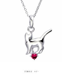 ネックレス レディース 猫 ネコ ねこ 誕生石ネックレス シルバー  s-171