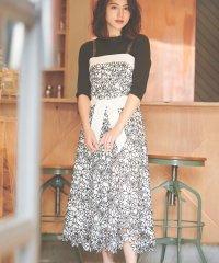 【美人百花3月号掲載】ボタニカル刺繍レースワンピース