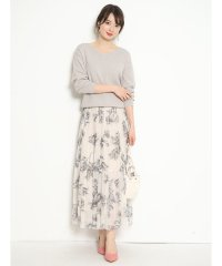 【STORY3月号掲載】アートフラワープリーツスカート