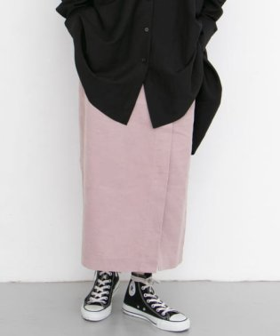 コーデュロイラップ風スカート