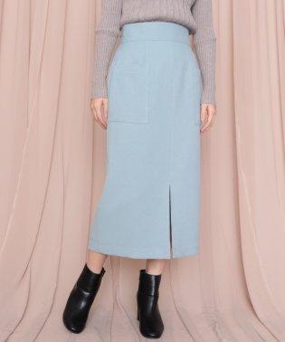フランネルアウトポケットタイトスカート