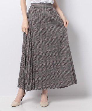 【セットアップ対応商品】グレンチェックプリーツスカート
