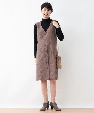 【特別提供品】チェックのジャンパースカート