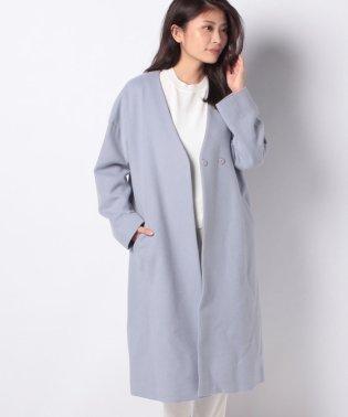 【特別提供品】ノーカラーVネックコート