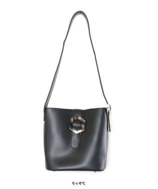 [バッグ 鞄]マーブルバックルバケツ型バッグ[191038]
