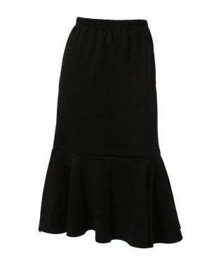 裾カットオフ裏起毛マーメイドスカート