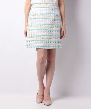 【セットアップ対応商品】マルチカラーツィードスカート