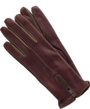 ラムレザー手袋ジップデザイン