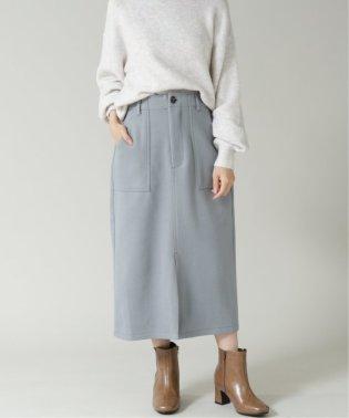 フェイクウールナロースカート