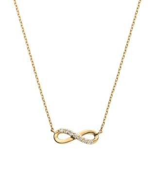 K18イエローゴールド インフィニティ ダイヤモンド ネックレス
