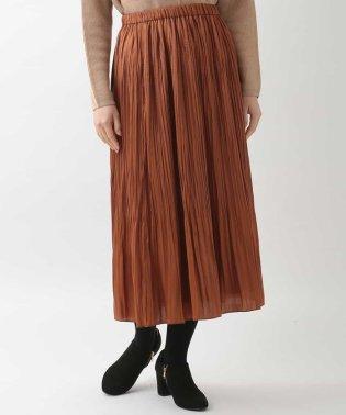 【ウエストゴム】プリーツサテンスカート