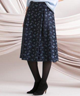 ≪洗濯機で洗える≫フラワーツッキリジャカードスカート