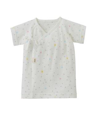 短肌着(新生児 / メッシュ半袖 / 総柄)(50~60cm)