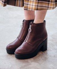 秋冬新作★ジップ厚底ブーツ★9401