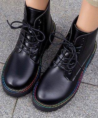 ショート ブーツ レディース レースアップ シューズ 歩きやすい 厚底 疲れにくい 秋冬 婦人靴
