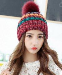 ニット帽 ボンボン レディース ふんわり 防寒 秋冬 かぶりやすい ニットキャップ 小顔効果 おしゃれ