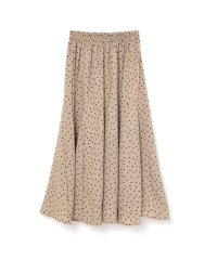 dot long skirt