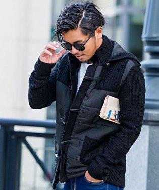 CavariA【キャバリア】 メンズ 3G中綿切替ニットダッフル コート