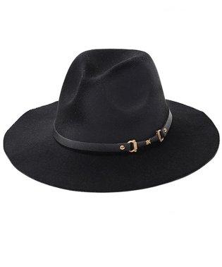 VICCI【ビッチ】 メンズ フェイクウールベルトつば広 HAT(帽子)