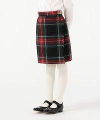 O'NEIL of DUBLIN:ウール ブラック スチュワート キルト スカート(100~140cm)