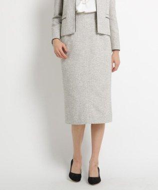 【ママスーツ/入学式 スーツ/卒業式 スーツ】【WEB限定サイズ(LLサイズ)あり】ラメツイードロングスカート