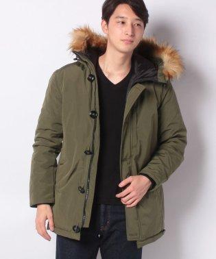 タスラン中綿フードファー付きジャケット
