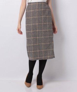【セットアップ対応商品】起毛チェックタイトスカート
